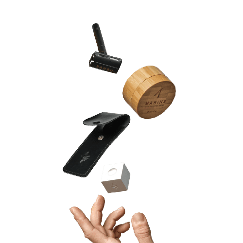 Pack afeitado cuchilla jabón maquinilla stand piedra